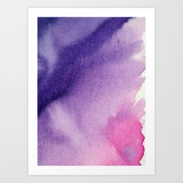 Pink and Purple watercolor Canvas Art Print