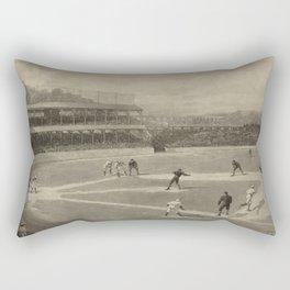 Vintage Illustration of a Baseball Game (1894) Rectangular Pillow