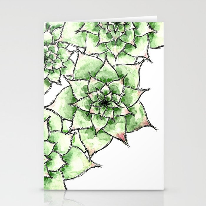 Hens and Chicks Stationery Cards