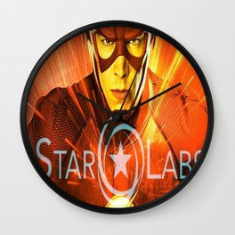 The Star Of Star Labs Wall Clock