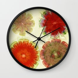 Gingles Style Flowers  ID:16165-084302-93370 Wall Clock