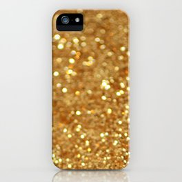 Glittered Gold iPhone Case