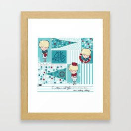 Nautical Boy - My Little Affirmations Framed Art Print
