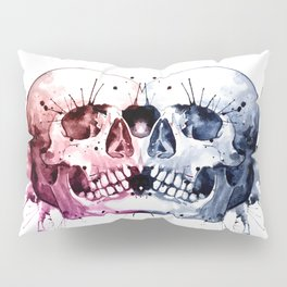 Conjoined Skull Pillow Sham