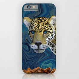 Leopard with the Sky in His Eyes iPhone Case