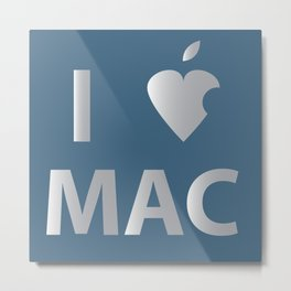 I heart Mac Metal Print