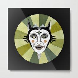 Cat Color Wheel No. 2 Metal Print