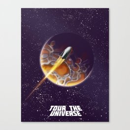 Tour the Universe - Sci fi poster Canvas Print