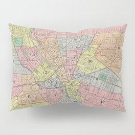 Vintage Map of Rochester NY (1901) Pillow Sham
