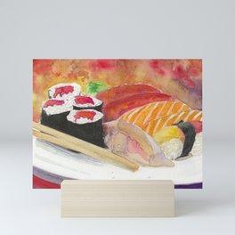 Sushi And Sashimi Dinner Platter Mini Art Print