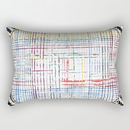 The System - line motif Rectangular Pillow
