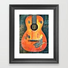 Vintage Acoustic Framed Art Print