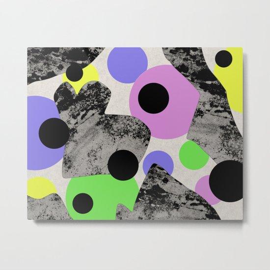 Pastels and Textures Metal Print