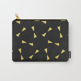 black & gold minimal pattern Carry-All Pouch