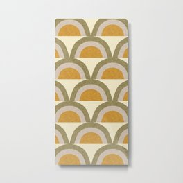 New Mid Mod Mustard Dijon  Metal Print