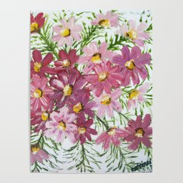 PINK PETALS & LEAVES Poster