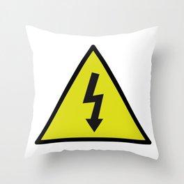 electric current danger signal Throw Pillow