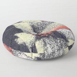 Multicolor abstract black Floor Pillow