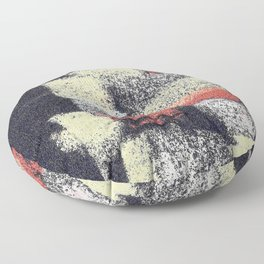 Multicolor abstract black Floor Pillow