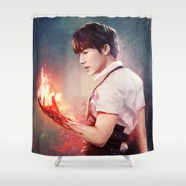 Fire Gyu Shower Curtain