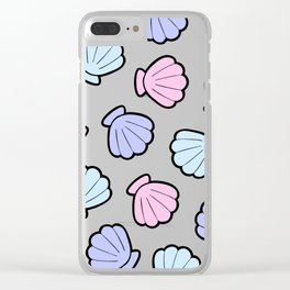 Mermaid Shells Pastel Pattern Clear iPhone Case
