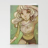 cyarin Stationery Cards featuring Greens by Cyarin