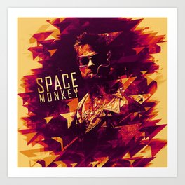 space monkey tyler durden Art Print