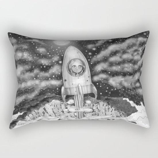 Running Away From Home In A Rocket Ship Rectangular Pillow