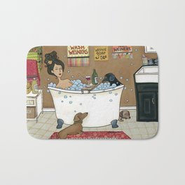 Wieners in the Tub Bath Mat