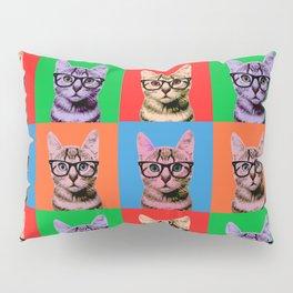 Pop Art Cat in Four Colors Pillow Sham