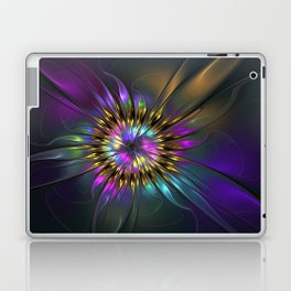 Fantasy Flower Fractal Laptop & iPad Skin