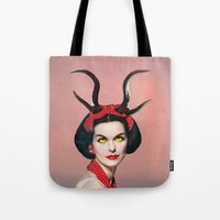 demon Tote Bags featuring Demon by Eugenia Loli