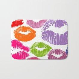 Colorful Lipstick Kisses Lip Color Bath Mat