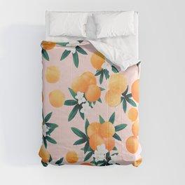 Orange Twist Flower Vibes #7 #tropical #fruit #decor #art #society6 Comforters