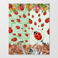 "bugs Canvas Prints featuring ""bugs"" by Ginger Pigg Art & Design"