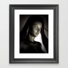 China Girl Portrait Framed Art Print