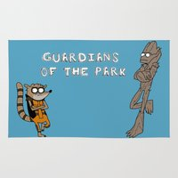 guardians of the galaxy Area & Throw Rugs featuring Guardians of the Park by Laura MSS
