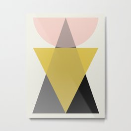 Simple geometric composition I Metal Print