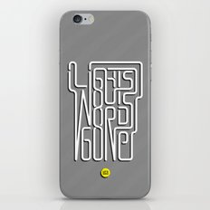 Lights Out, Words Gone iPhone & iPod Skin