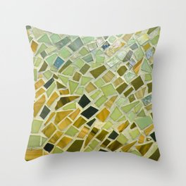 Bright n Sunshiny Day Mosaic Throw Pillow