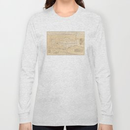 Vintage Map of Lake Winnipesaukee (1896) Long Sleeve T-shirt