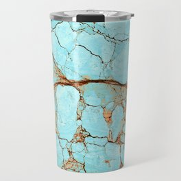 Rusty Cracked Turquoise Travel Mug