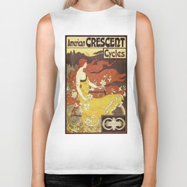 Vintage poster - American Crescent Cycles Biker Tank