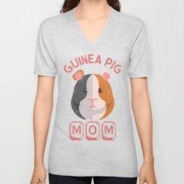 Guinea Pig Mom Unisex V-Neck