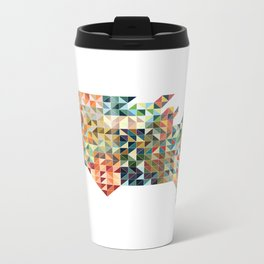 Geometric United States Metal Travel Mug