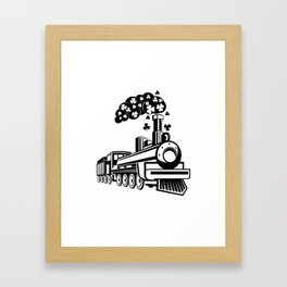 St. Patrick's Day Shamrocks Train Cute For Boy Kids Framed Art Print