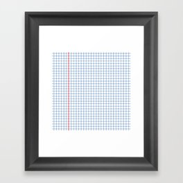 Dotted Grid Red and Blue Framed Art Print