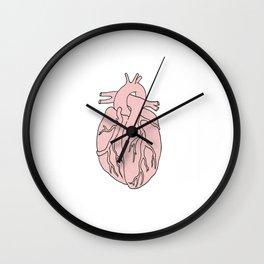 a simple heart Wall Clock