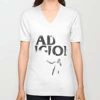 religion V-neck T-shirts featuring bad Religion by David BASSO