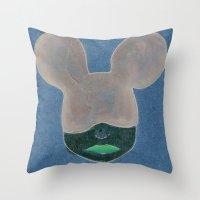 minnie Throw Pillows featuring Minnie by WickedNifty